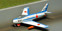Gulliver 200 F - 86 F - 40 First Air Organization (Hamamatsu Base) Battle Technical Research Group Blue Impulse 62 - 7501 1/200