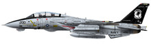 Calibre Wings Grumman F-14A Tophatters VF-14 1/72 CBW721403