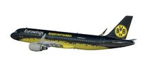 """Herpa Eurowings Airbus A320 """"BVB Mannschaftsairbus"""" - D-AIZR 1/100"""