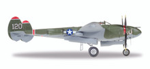 """Herpa U.S. Army Air Forces (USAAF) Lockheed P-38L Lightning - Captain V.E. Jett, 431st Fighter Squadron, 475 Fighter Group """"Thoughts Of Midnite"""" - NL38TF (120) 1/72"""