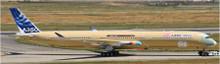 JC Wings Airbus A350-1000 F-WMIL (Flaps Down) Bare Metal Colour 1/400 XX4110A