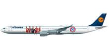 "Herpa Lufthansa Airbus A340-600 ""FC Bayern Audi Summer Tour China 2017"" 1/250"