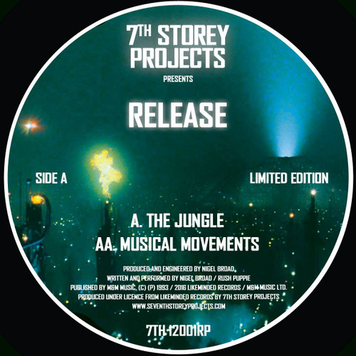 """RELEASE - The Jungle/Musical Movements - Limited Edition 12"""" Clear Transparent Vinyl"""