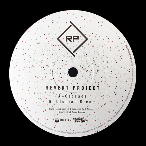 "Revert Project - Cascade/Utopian Dream - Jedi Recordings - Limited Edition 12"" Vinyl"