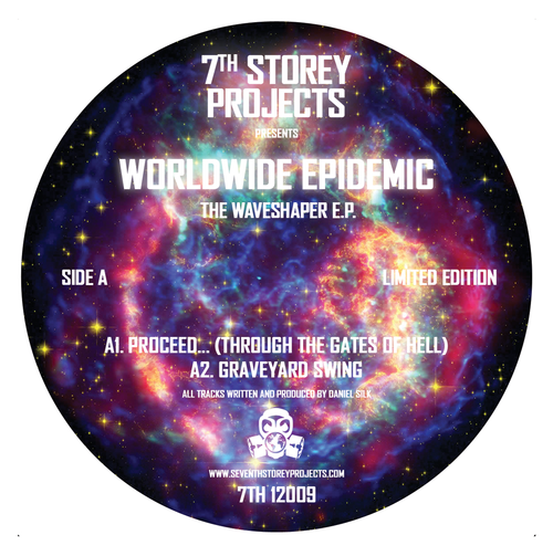 """Worldwide Epidemic - The Waveshaper EP - 7TH 12009 - 7th Storey Projects - Limited Edition 12"""" Vinyl"""
