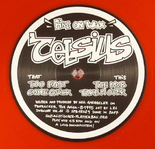 """Celsius - Fire On Wax - Limited Edition 12"""" Red Vinyl"""
