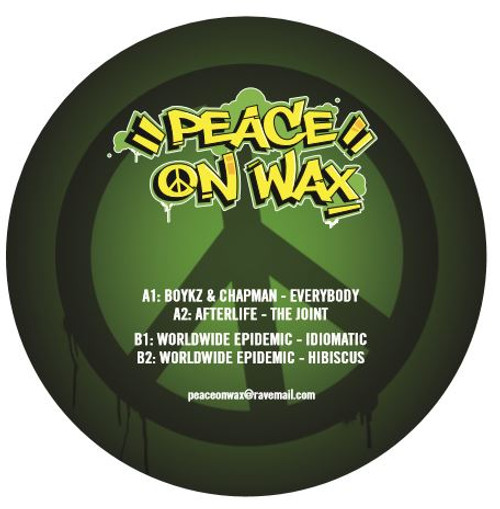 "Boykz & Chapman/Afterlife/Worldwide Epidemic - Peace On Wax Vol 2 - 12"" Vinyl"
