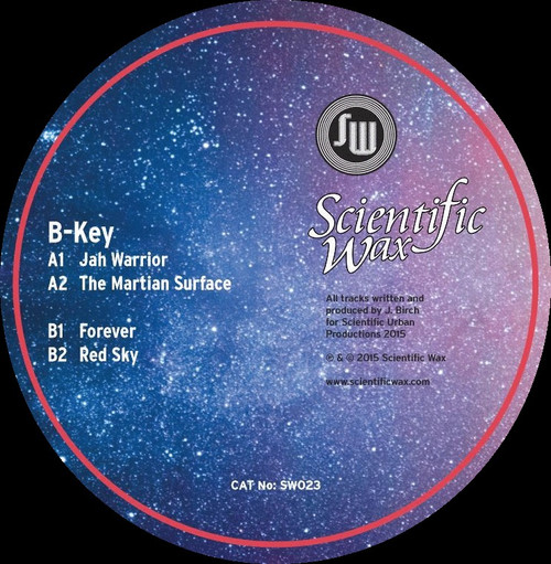 "B-Key - Jah Warrior - Scientific Wax - SW023 - Limited Edition 12"" Vinyl"