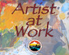 Artist at Work Laminated Card for Car Window