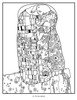 Interior Page from Gustav Klimt Coloring Book