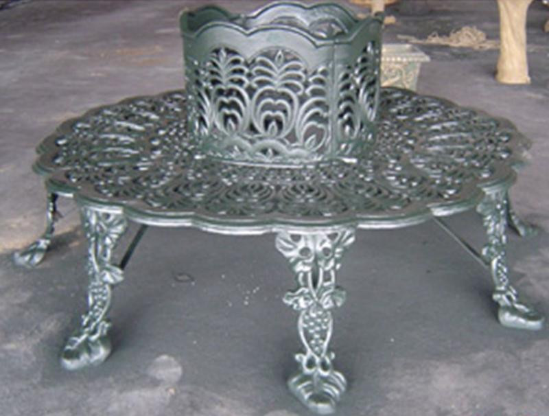 Victorian style cast iron garden tree bench quot wide