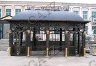 Large Cast Iron and Tubular Steel Conservatory in Black Powder Coated Finish