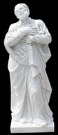 LOVELY CLASSIC ST PHILIP NERI MARBLE STATUE, RELIGIOUS