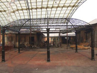 STUNNING LARGE RECTANGULAR CAST IRON OPEN GAZEBO, 13' TALL