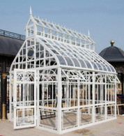 STEEPLE DESIGN GARDEN CONSERVATORY OR GREENHOUSE