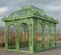 TALL RECTANGULAR GARDEN GAZEBO, CONSERVATORY OR PAVILION. OPEN MODEL WITH NO GLASS OR TOP PANEL Dimensions: L: 207.8 x W: 148 x H: 202