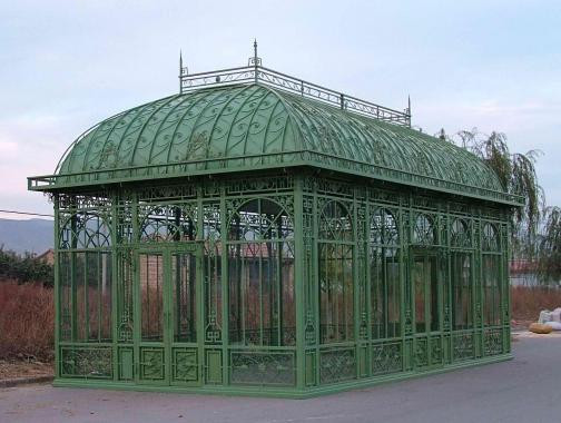 Enormous Cast Iron Garden Greenhouse Conservatory Or