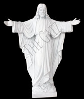 "HAND CARVED WELCOMING JESUS MARBLE STATUE 72"" LIFE SIZE"