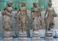 SET OF FOUR SEASONS, HAND CARVED MARBLE, WOMEN
