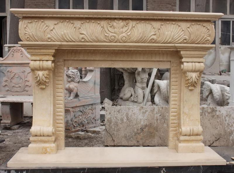 French Style Marble Fireplace Mantel Features Great Detail And Elegant Look Ebay