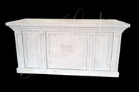 Hand Carved Gothic Marble  Church Altar with St. Peter crest-Religious