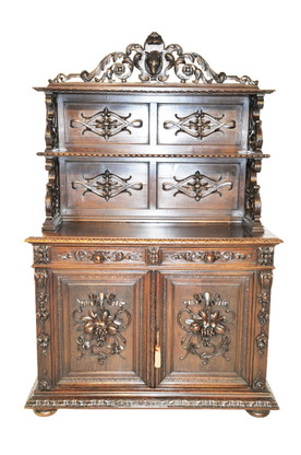 Attractive Antique French Hunt Cabinet, Buffet or Server from the Turn of the Century