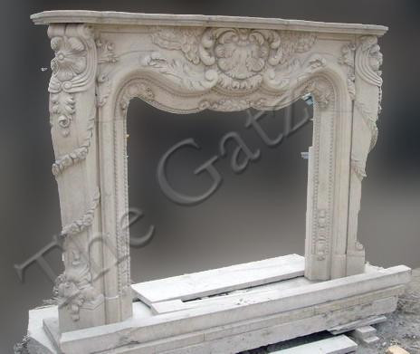 French Provincial Design Marble Fireplace Mantel Classy Styling Thegatz