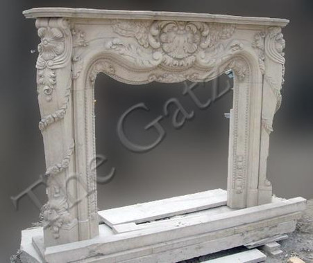 French Provincial Design Marble Fireplace Mantel Classy