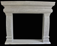 Hand Carved Tuscan Design Sandstone Fireplace Mantel, Simple Design