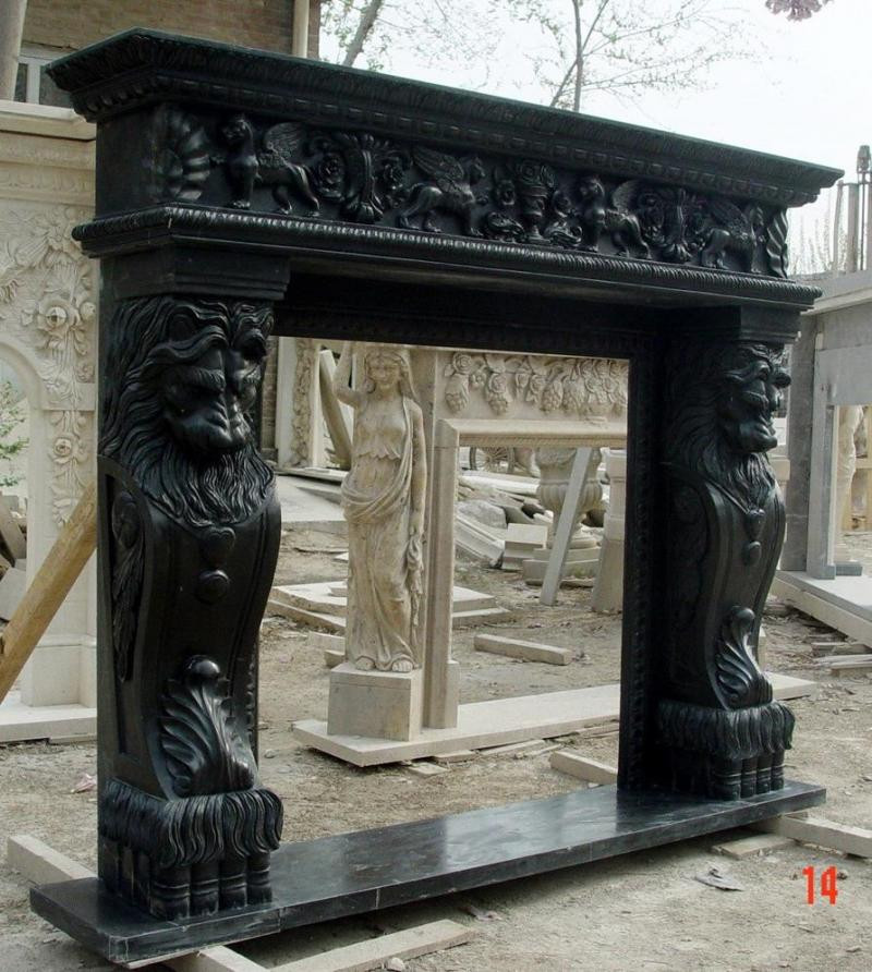 Hand Carved Fireplace Mantel Lion Leg Carvings Masculine