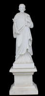 Hand Carved marble statue of St Joseph
