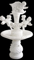 Two Tier White Marble Angel Cherub Fountain