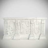 Custom Marble Church Altar, Statuary White Marble, Religious
