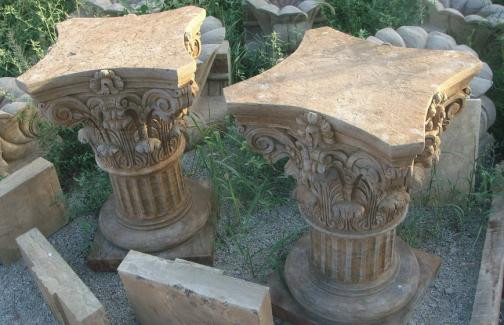 Superior Impressive Hand Carved Corinthian Marble Pedestal. Wonderful Detail In This  Set Of Pedestals. They Can Be Used As Pedestal For A Sculpture Or Even To  Set ...