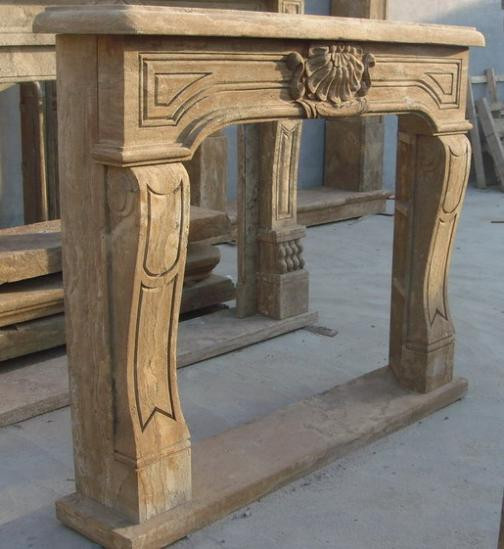 Hand Carved Marble Fireplace Mantel Old World Finish Simple French Style Ebay