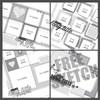 2017 MARCH SKETCH TRIO + 1 BONUS SKETCH: Squares  - One Page