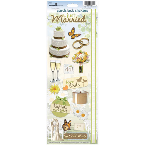 Paper House Productions Cardstock Stickers: Just Married
