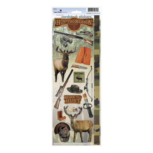 Paper House Productions Cardstock Stickers: Hunting Season