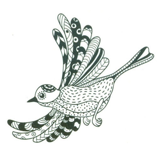 Joy! Crafts Clear Stamps: Zentangle Bird In Flight