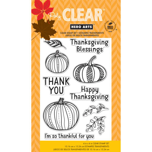 Hero Arts Clear Stamp: Thankful For You