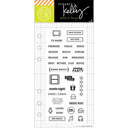 Hero Arts Clearly Kelly Stamps On The Go: TV Planner