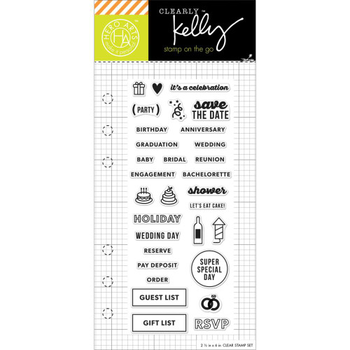Hero Arts Clearly Kelly Stamps On The Go: Occasion Planner