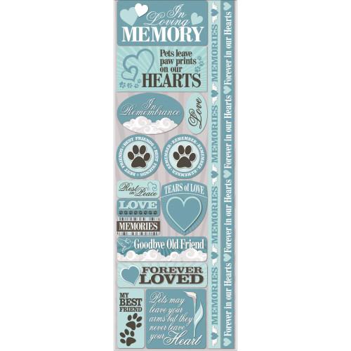 Reminisce Signature Series Cardstock Combo Sticker: Pet Loss