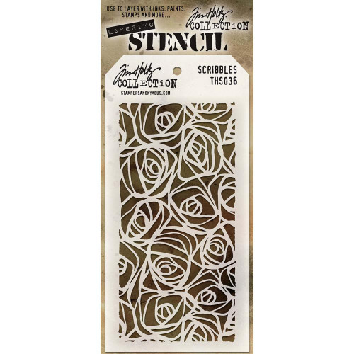 Tim Holtz Layering Stencil: Scribbles