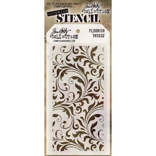 Tim Holtz Layering Stencil: Flourish