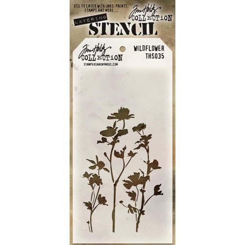 Tim Holtz Layering Stencil: Wildflower