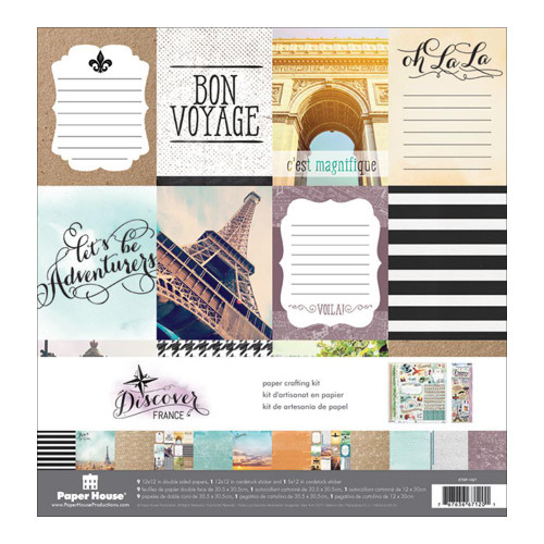 Paper House Productions 12x12 Collection Kit: Discover France