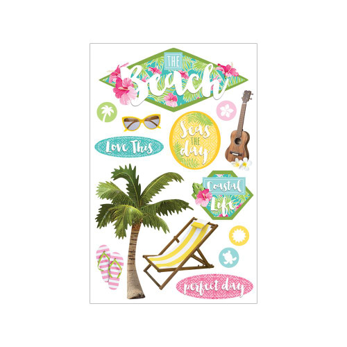 Paper House Productions Paradise Found 3D Stickers: The Beach