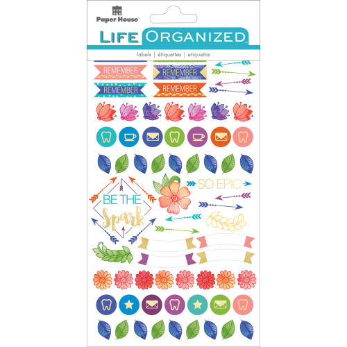 Paper House Productions Life Organized Stickers: Live Bold