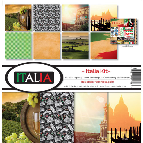 Reminisce 12x12 Collection Pack: Italia